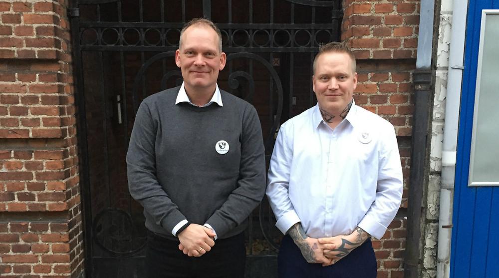 Fra venstre, Jesper Høgedal, valgt som spidskandidat i Odsherred kommune og Lars Kronborg, spidskandidat i Kalundborg Kommune. Privatfoto