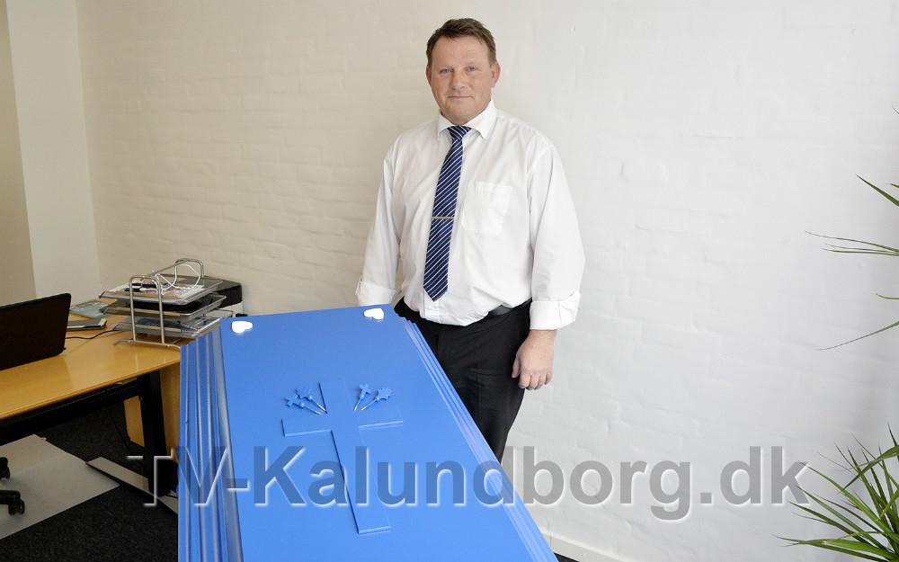 Bedemand Jørgen Haack har åbnet forretning i Kalundborg. Foto: Jens Nielsen