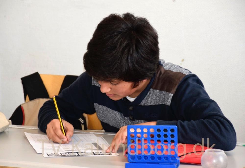 Også på det mellemste klassetrin bliver der arbejdet hårdt. Foto: Gitte Korsgaard
