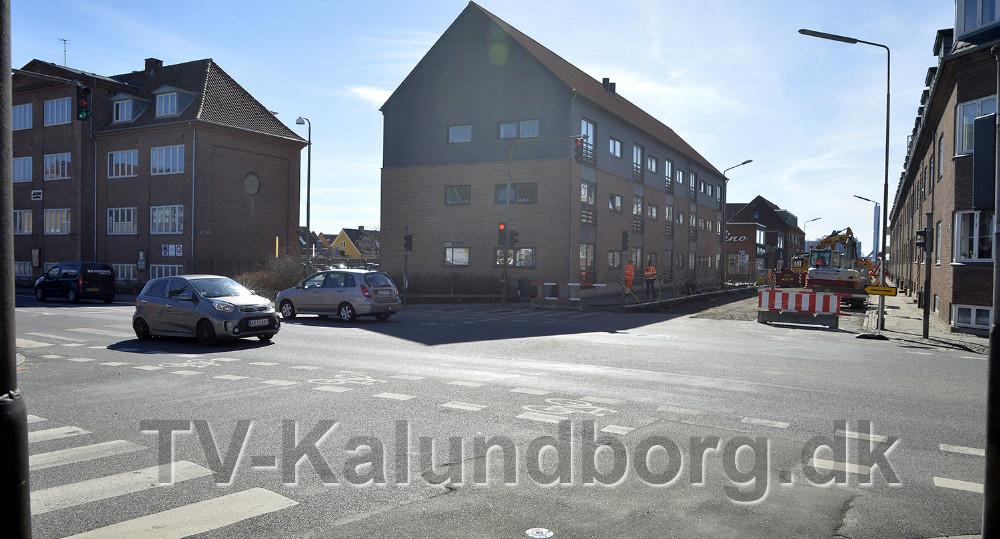 Krydset Vænget/Bredgade spærres fra på  mandag. Foto: Jens Nielsen