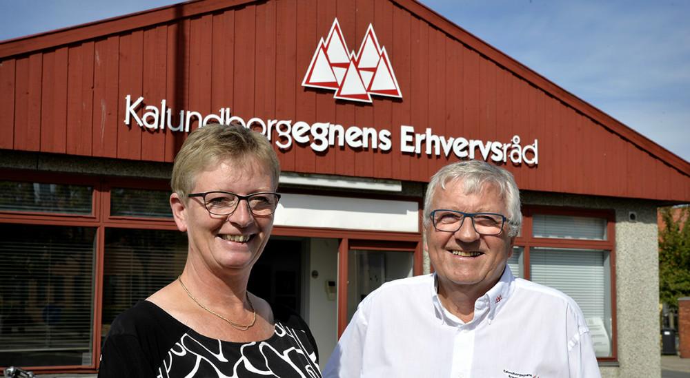 Laila Carlsen konstitueret erhvervsdirektør sammen med Ole Lauritzen, bestyrelsesformand. Foto: Jens Nielsen