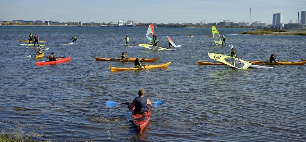 Stor aktivitet på vandet. Foto: Jens Nielsen