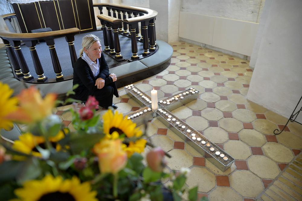 Line Hedengran, Tømmerup havde taget initiativ til lysandagtensøndag eftermiddag. Foto: Jens Nielsen