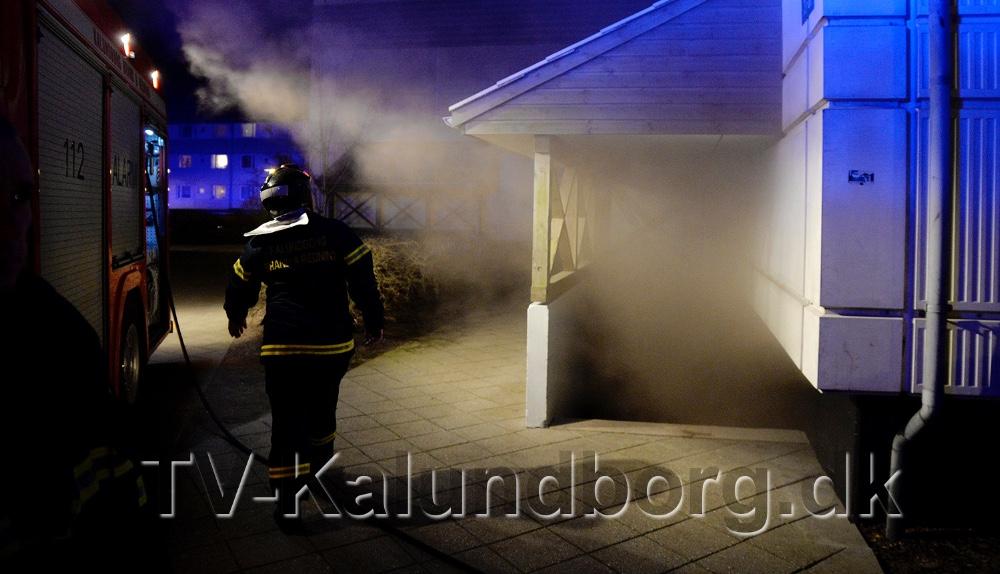 Kælderbrand på Klosterparkvej i Kalundborg.Arkivfoto: Jens Nielsen.