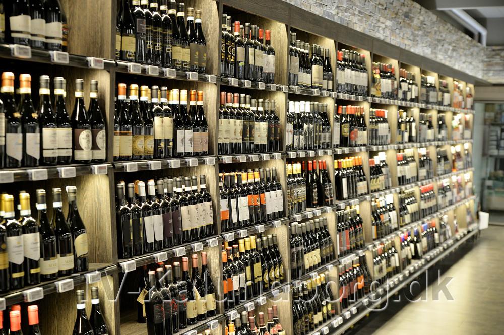 Vinafdelingen er stor og flot. Foto: Jens Nielsen
