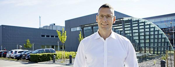 Michael Hallgren, produktionsdirektør, Novo Nordisk i Kalundborg.