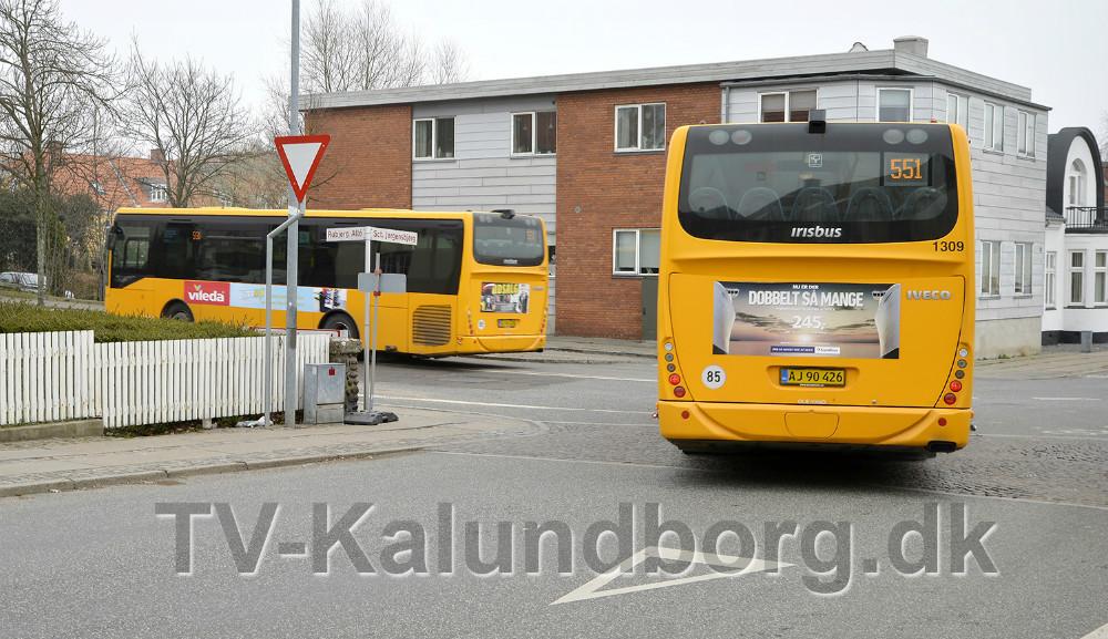 Kloakarbejde i Vænget/Bredgade giver store udfordringer for bustrafikken. Foto: Jens Nielsen