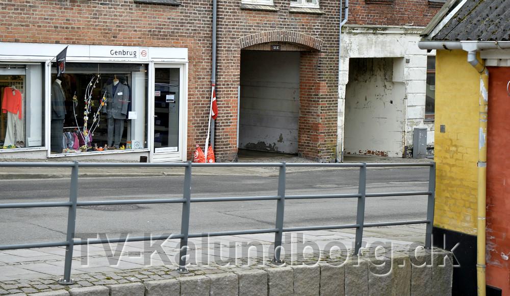 En ny sti der skal forbinde Kordilgade og Kvickly, skal gå gennem porten til Kordilgade 58. Foto: Jens Nielsen
