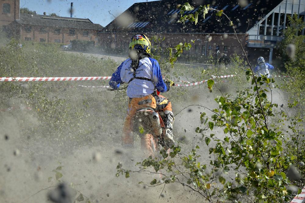 Ungdomsskolen gav den gas på området bag den gamle sukkerfabrik. Foto: Jens Nielsen