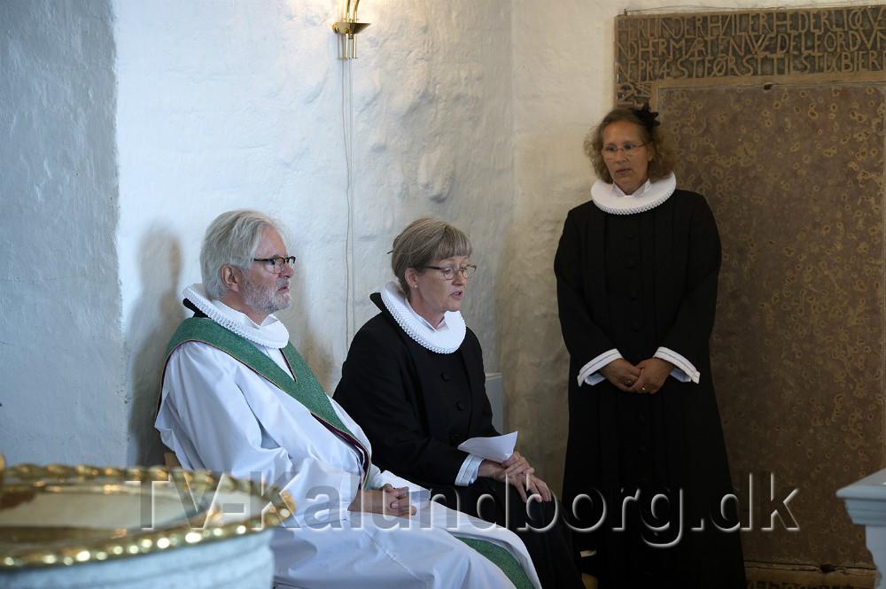 De tre præster, Helle Brink, Lisbeth Dyxenburg og Søren Sievers. Foto: Jens Nielsen