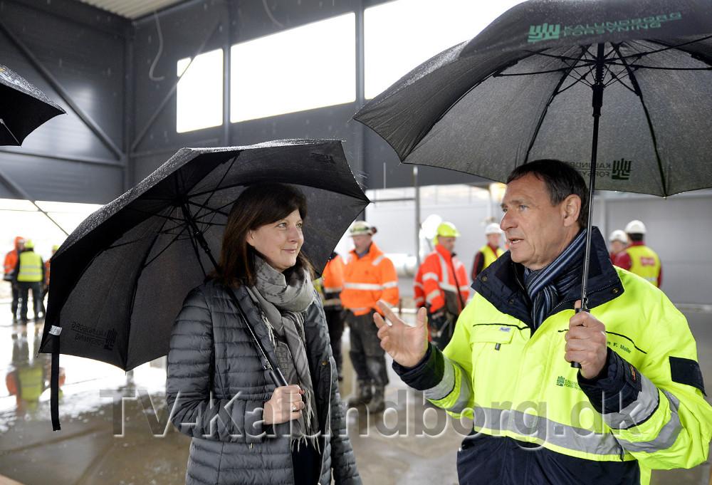 Bestyrelsesformand Anne Marie Hansen sammen med direktør for Kalundborg Forsyning, Hans-Martin Friis Møller. Foto: Jens Nielsen