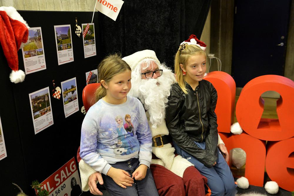 Selv julemanden var med på messen. Foto: Jens Nielsen