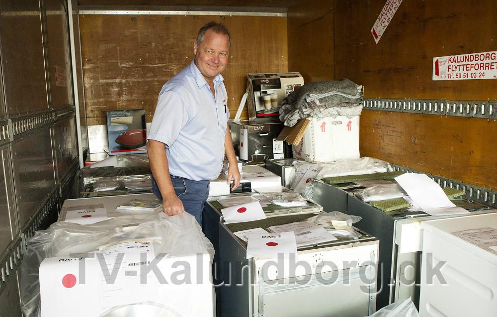 Steen Jensen, indehaver af Punkt 1 klar til fire dage med store rabatter på Miele produkter. Foto: Jens Nielsen