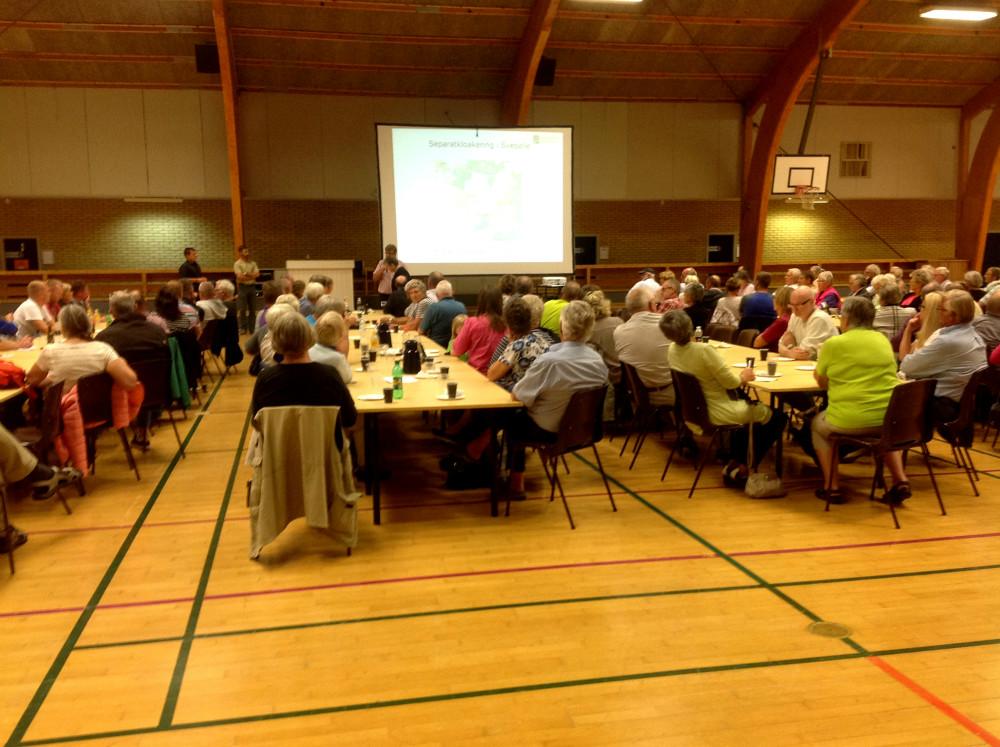 Borgermøde i Svebølle Hallen. Foto: Gert Larsen.
