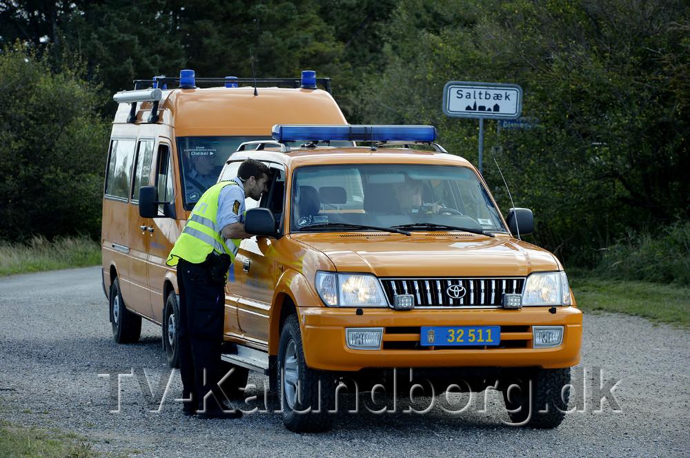 Beredskabsstyrelsen ankommer til Saltbæk. Foto: Jens Nielsen