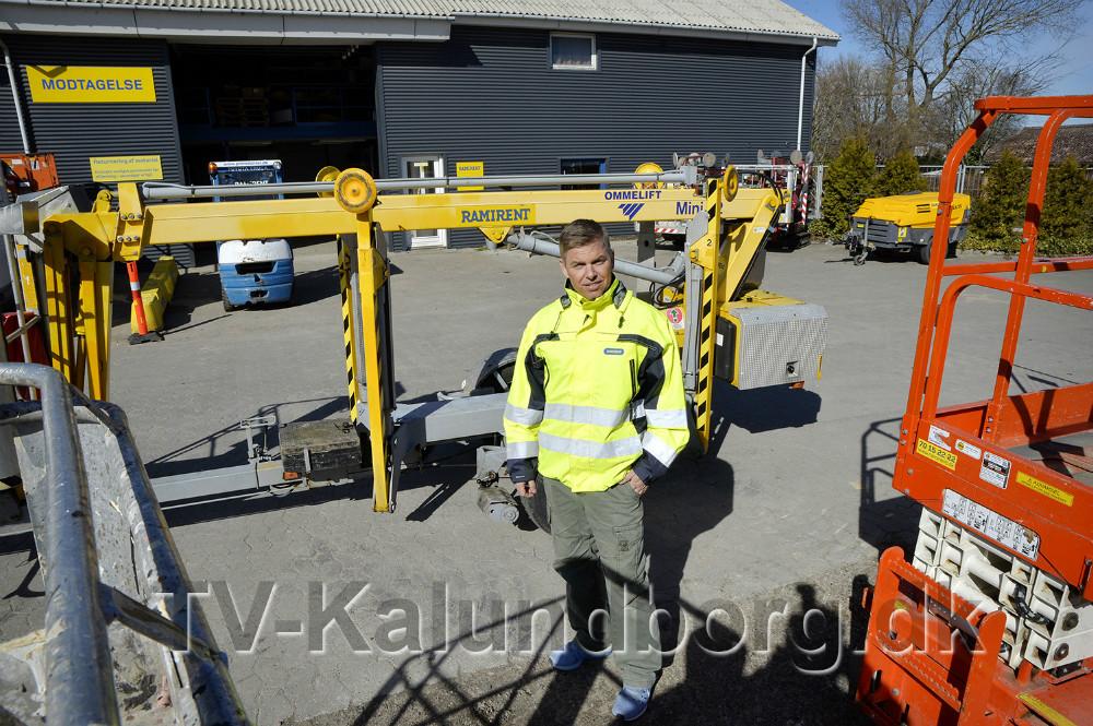 Afdelingsleder hos Ramirent i Kalundborg, Mads Lundberg. Foto: Jens Nielsen