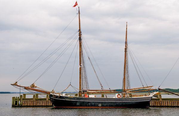 Galeasen Anna Møller til service i Roskilde