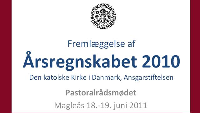 Bispedømmets regnskab 2010
