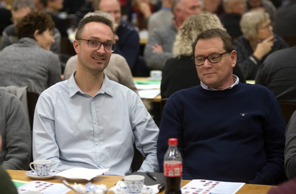 Et par af de nye kandidater, Kristian Kallenbach og Søren Bang Knudsen. Foto: Jens Nielsen