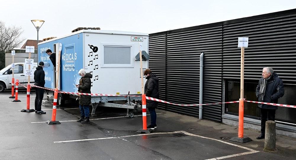 Så snart det nye kviktest-center åbnede var der ´kunder i butikken´. Foto: Jens Nielsen