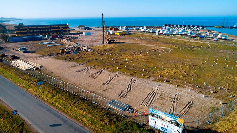 Byggeri af 62 feriehuse i Mullerup er i gang. Foto: Jens Nielsen