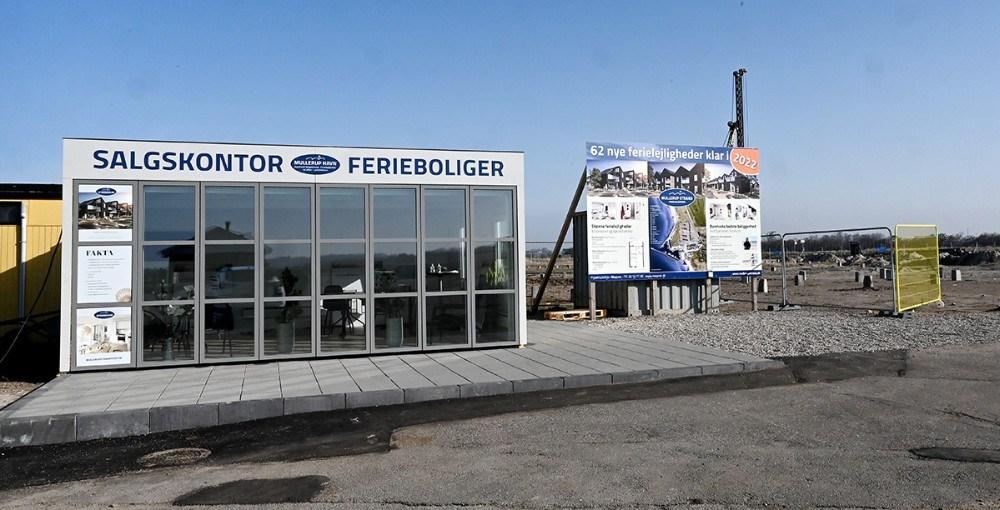 Der er åbent i salgskontoret ved byggepladsen påskelørdag fra kl. 11. Foto: Jens Nielsen
