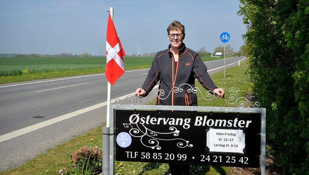 Tina Hansen har flyttet Østervang Blomster hjem til privatadressen på Helsingevej. Foto: Jens Nielsen