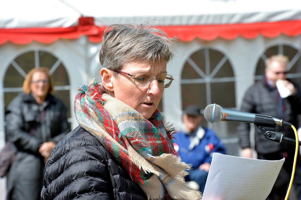 Birgitte Gransøe Kalundborg, fortalte om forholdene som buschauffør. Foto: Jens Nielsen