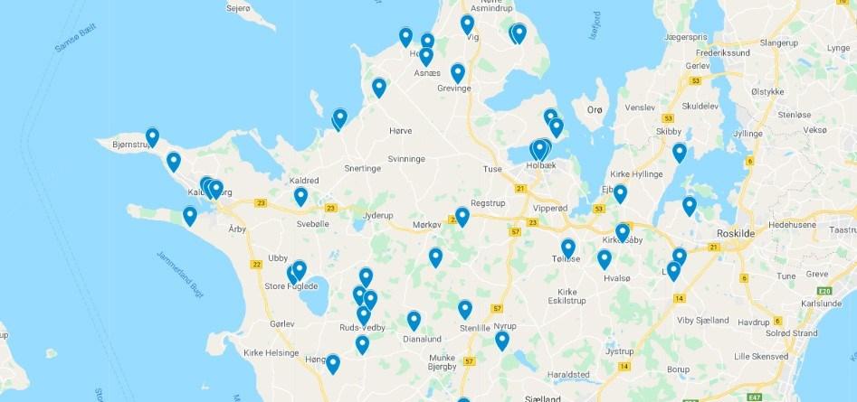 Der er stor geografisk spredning i de 52 ansøgninger, LAG Midt-Nordvestsjælland har modtaget.