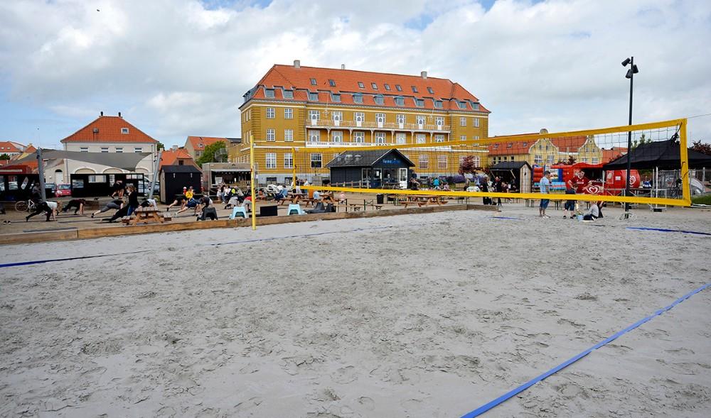 Den nye beachvolleybane er nu færdig. Foto: Jens Nielsen