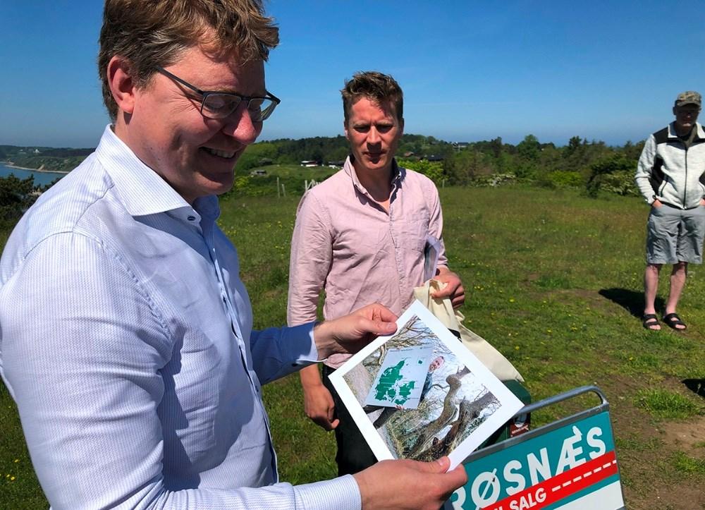 Klima- og transportordfører Rasmus Helveg Petersen (R) besøgteAsnæs og Røsnæs mandag
