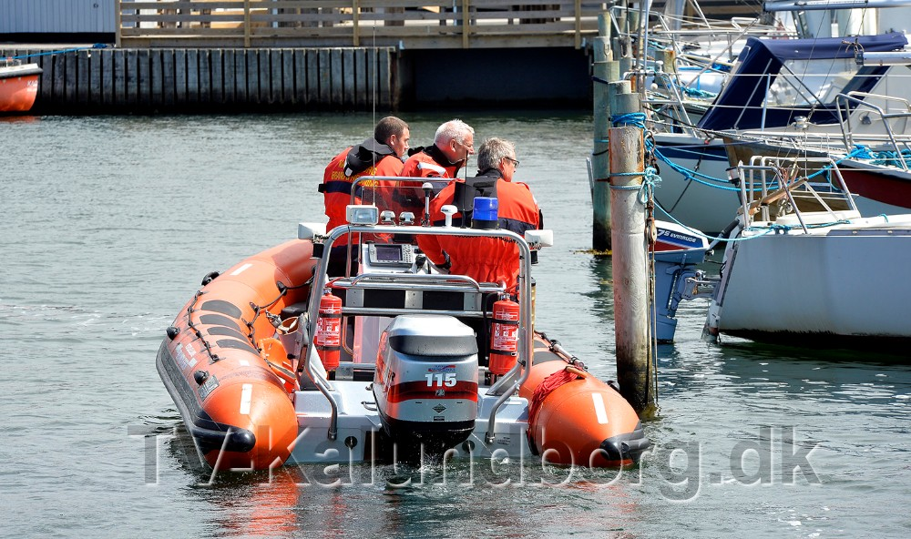 Redningsbåden fra Vestsjællands Brandvæsen blev sat ind i eftersøgningen efter en savnet kvinde. Foto: Jens Nielsen