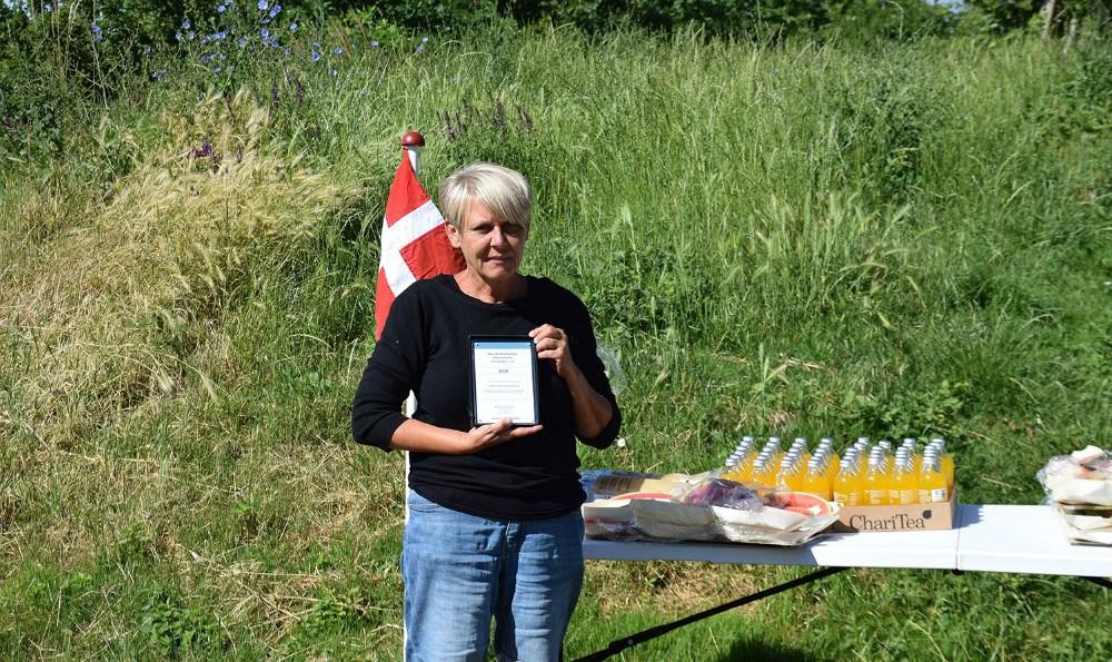 PædagogMalene Koksby Hansen, Eventyrhuset i Kalundborg, modtog onsdag formiddagNovo Nordisk Fondens Naturtematiske Pædagogpris 2020. Foto: Gitte Korsgaard.