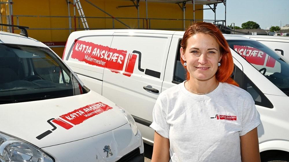Katja Anskjær har nu været selvstændig malermester i fem år. Foto: Jens Nielsen