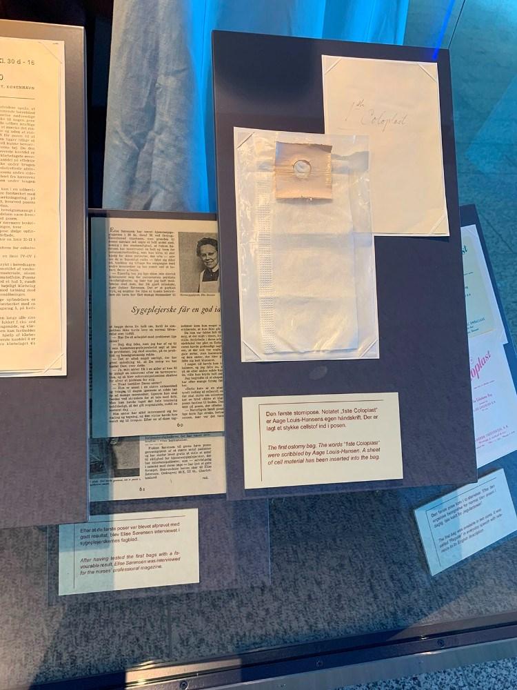 Billedmaterialet er fra det lille museum på Coloplast og velvilligt stillet til rådighed af virksomheden. Privatfoto