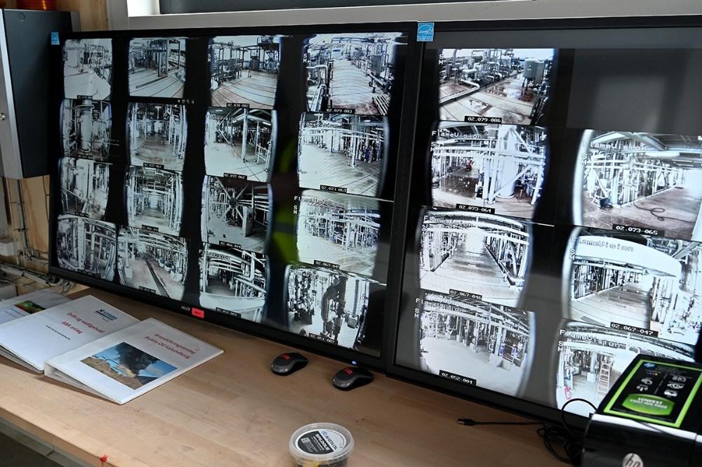 Kameraer overvåger hele tiden anlægget. Foto: Jens Nielsen