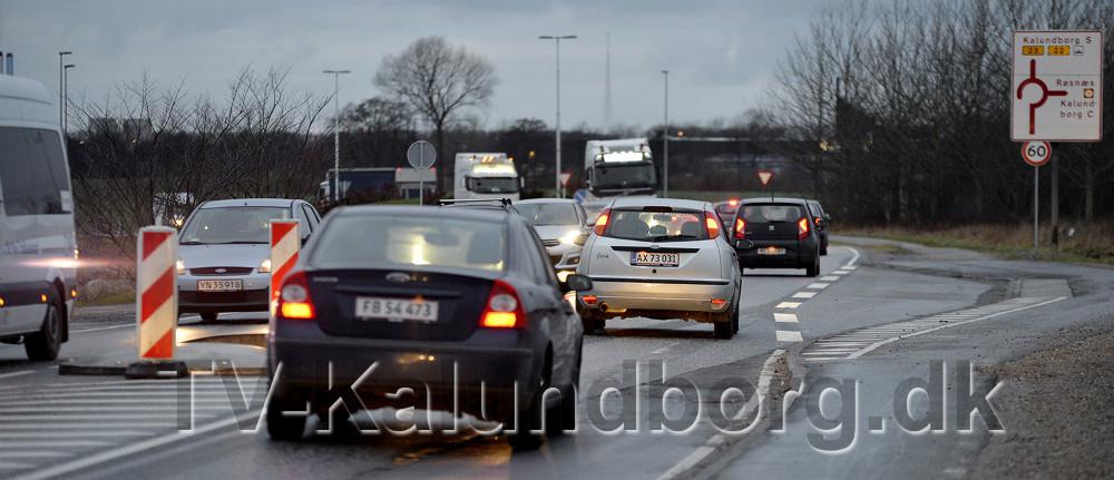 Pendlere på vej i i Kalundborg. Foto: Jens Nielsen