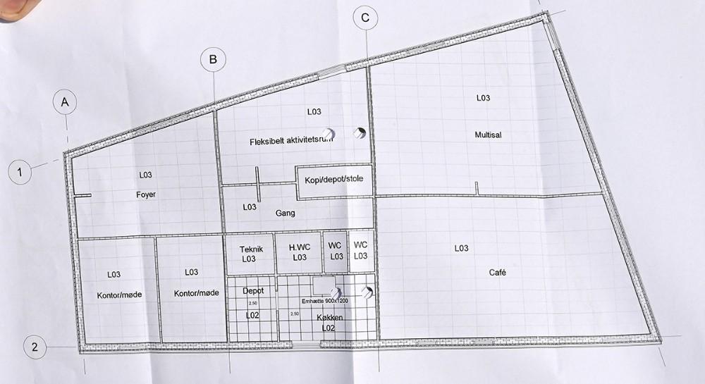 KAB begynder nu opførelsen af et 400 kvm. stort aktivitetshus i Sct. Olaiparken. Foto: Jens Nielsen