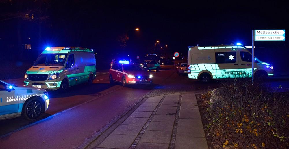 Færdselsuheld på Nørre Alle fredag aften omkring kl. 20. Foto: Gitte Korsgaard