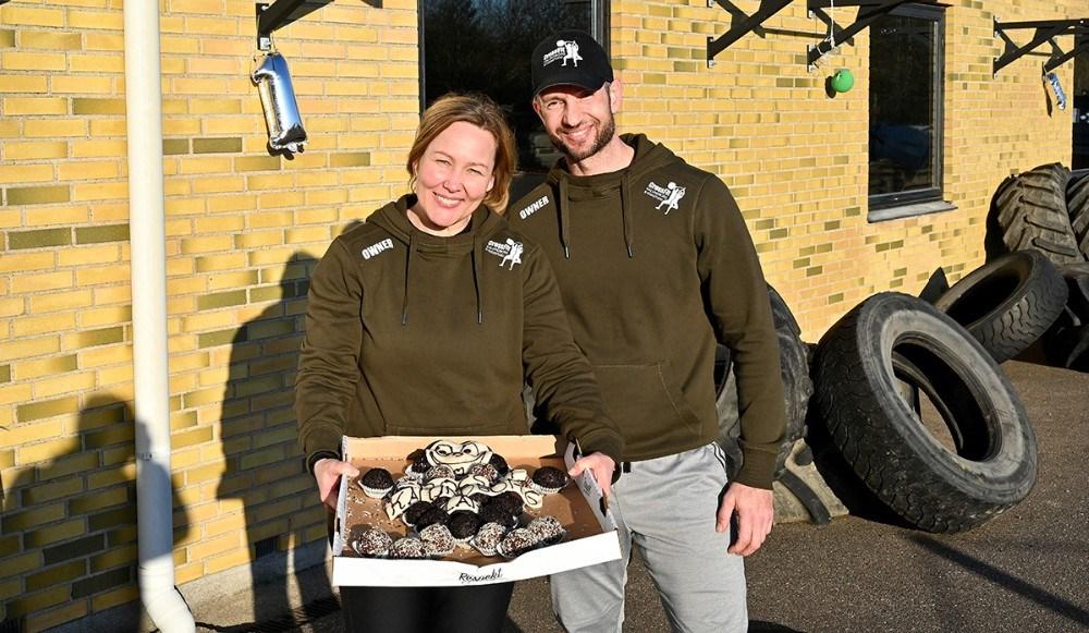 Shannie og Michael da Silva fejrede 1-års fødselsdag i Crossfit Kalundborg. Foto: Jens Nielsen
