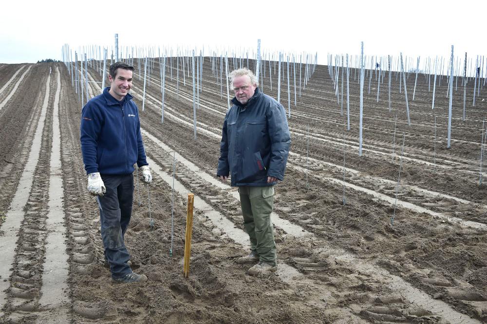 Den tyske vinmager Stefan Laible sammen med Povl Barfod. Foto Jens Nielsen