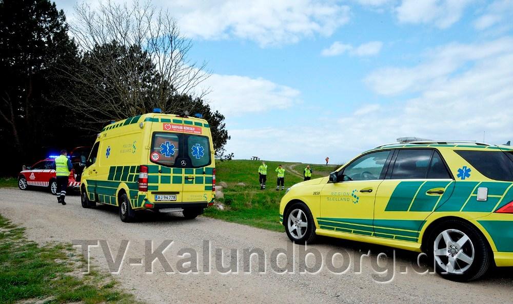 Stor udrykning på Reersø torsdag eftermiddag. Foto: Jens Nielsen