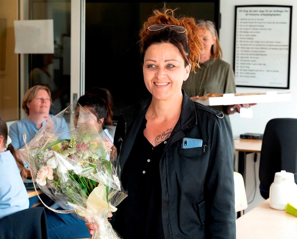En overrasket prismodtager. Foto: Jens Nielsen