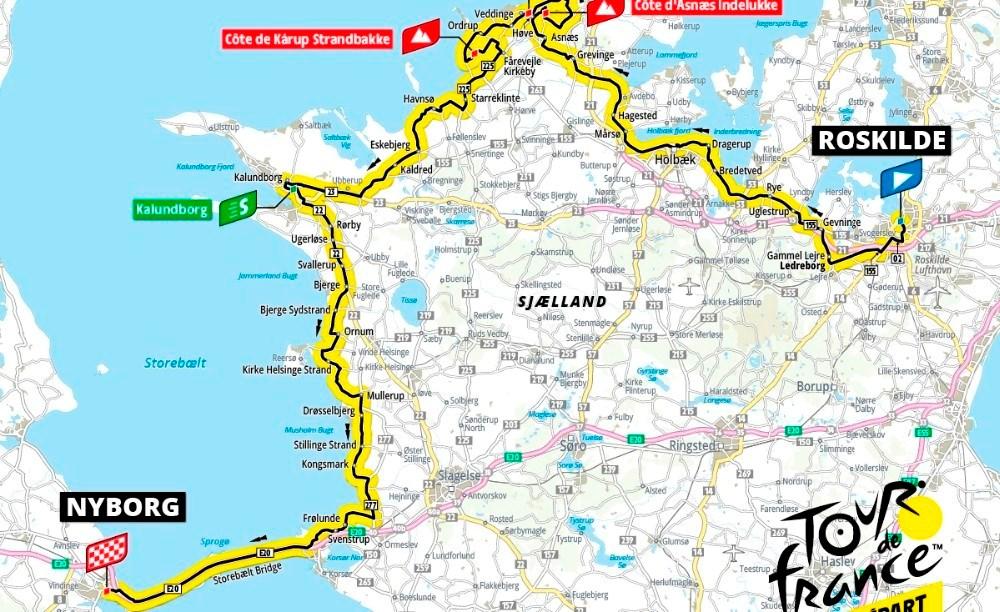 2. etape af Tour de France 2022 kommer gennem Kalundborg Kommune.