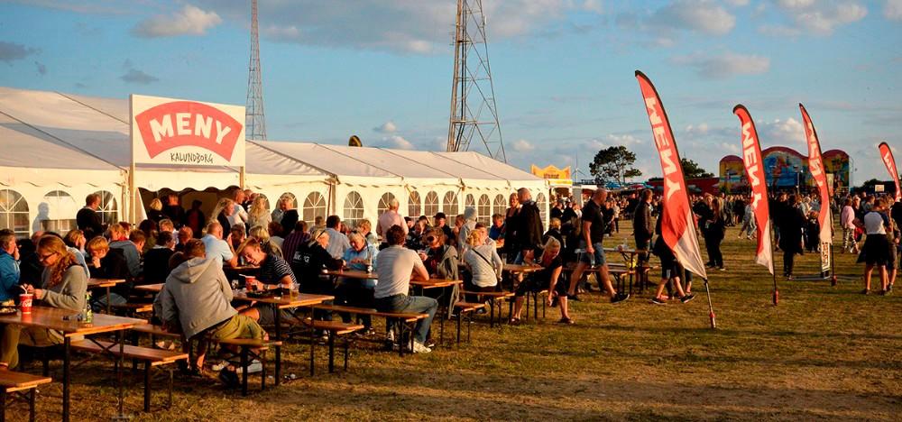 De sidste to år har Meny haft et stort telt på festivalpladsen, i år bliver teltet betydeligt større. Arkivfoto: Jens Nielsen