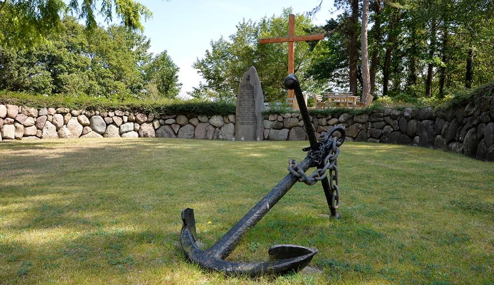 Monumentet for faldne søfolk påSct. Olai Kirkegård i Kalundborg. Foto: Jens Nielsen