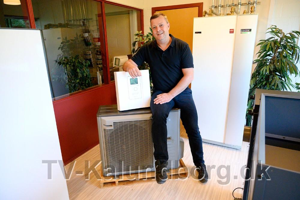 Gæsterne kan også se det nyeste og mest moderne luft til vand anlæg fra Vølund. Foto: Jens Nielsen