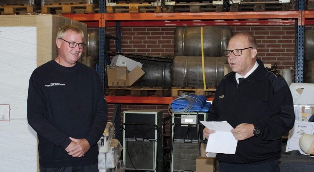 Flemming B. Gede og Leder af Frivilligenheden Jan Brun. Foto: Morten Larsen
