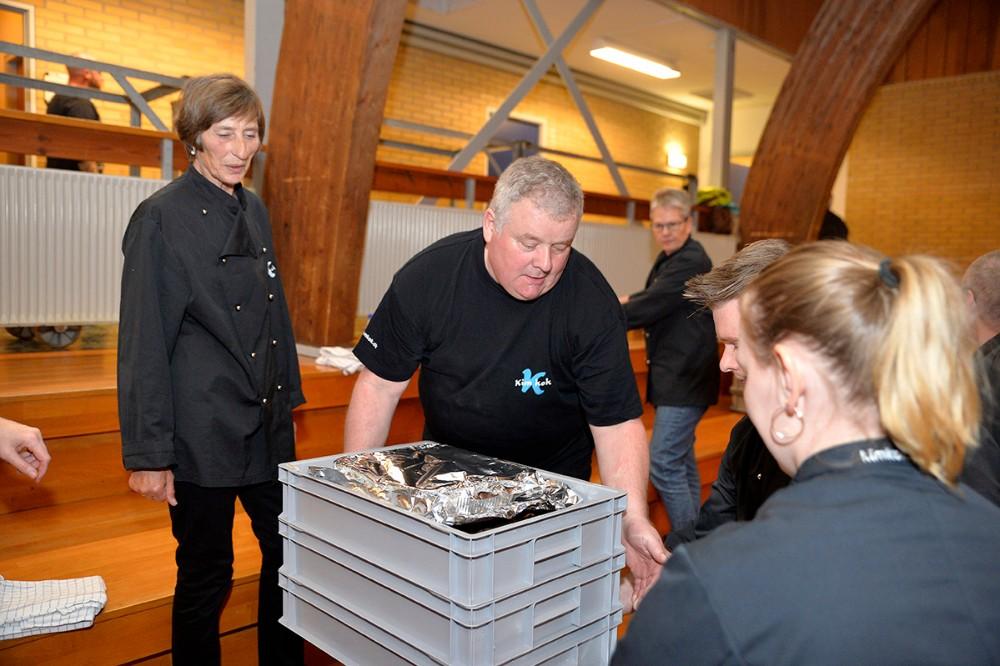 Kim Kok sørgede for maden. Foto: Jens Nielsen