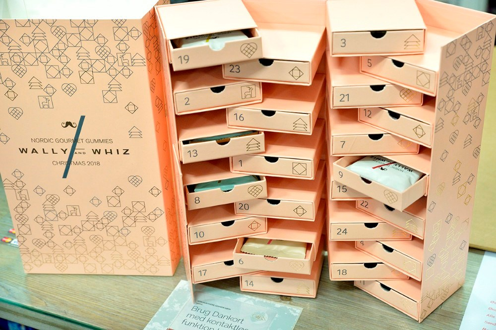 lækker vingummi fra Wally and Whiz, pakket i små poser i en lækker gaveæske. Foto: Jens Nielsen